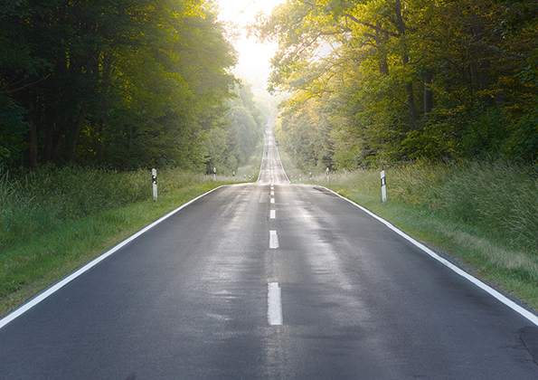 Sicht ohne Rodenstock Road Gläser
