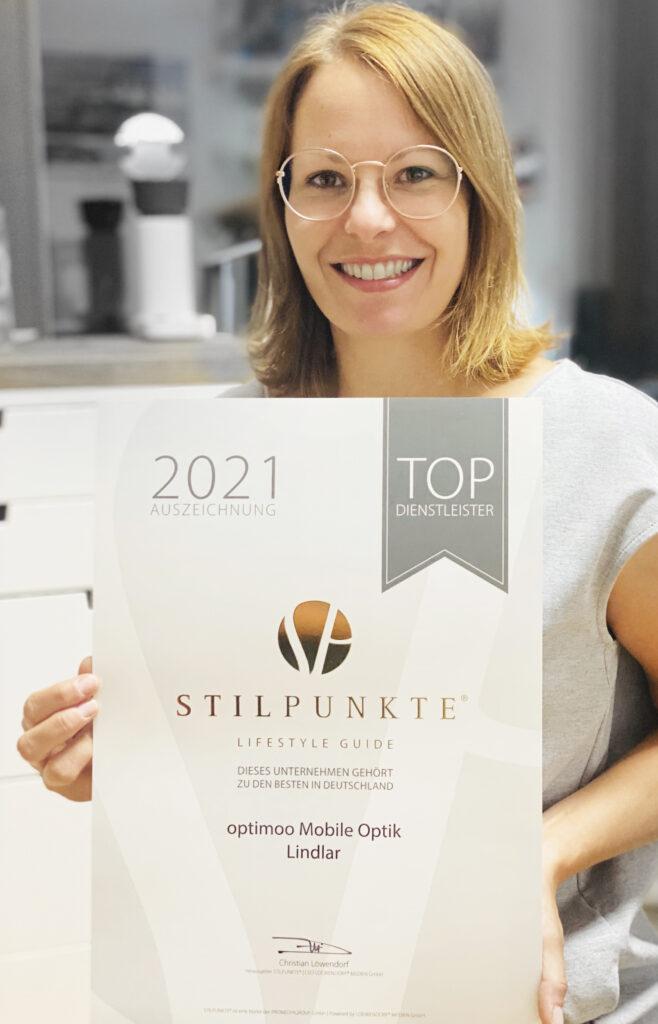 Sarah Werheid - optimoo Auszeichnung